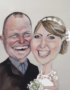 I Do Caricatures Wedding Pic 1