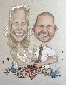 I Do Caricatures Wedding Pic 2