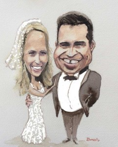 I Do Caricatures Wedding Pic 3